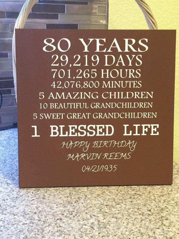 80 year old birthday by creativesignsbytal on etsy for 80 birthday decoration ideas