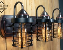 industrial bathroom light fixtures unique vanity light related items etsy 18889