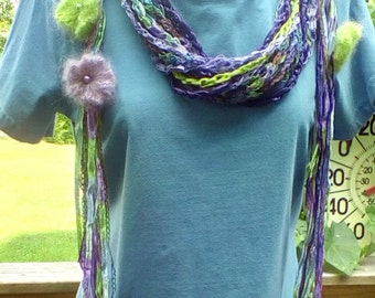 Beautiful blue, green and purple scarf