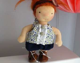 "Waldorf doll 6 "", Pocket doll, Little doll, Pocket waldorf doll"