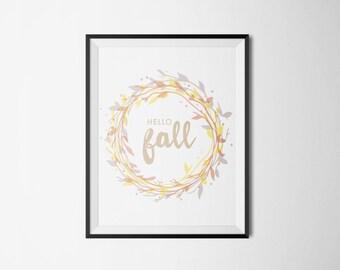 Hello Fall Print