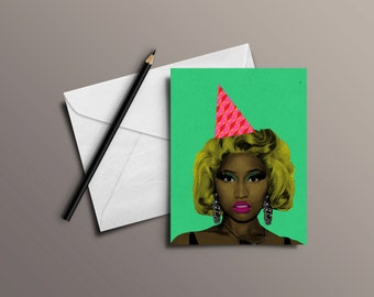 Nicki Minaj Celebration Card