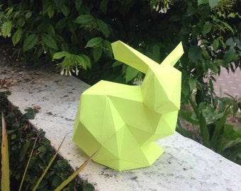 Rabbit papercraft model DIY template