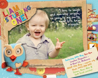 Giggle and Hoot Birthday Invitation