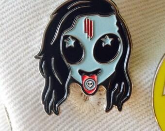 V1 Original Skrillex Head Pin (REPRINT)