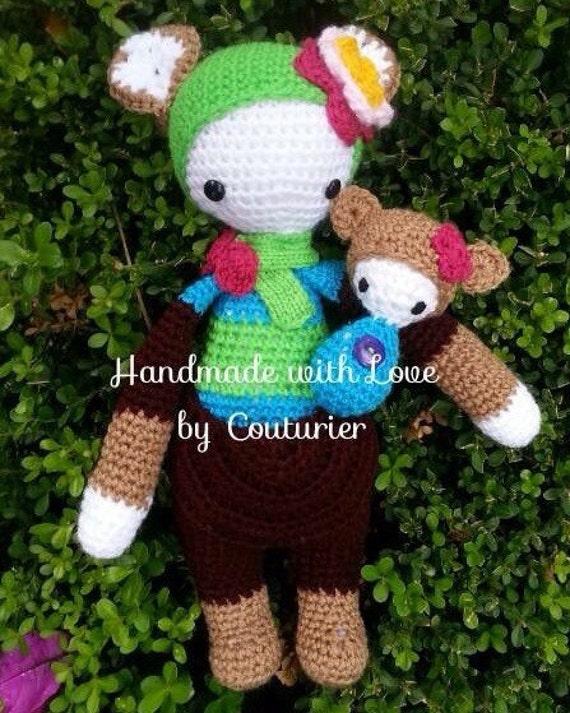 Amigurumi Kangaroo : AMIGURUMI KIRA the Kangaroo Crochet Doll por ...