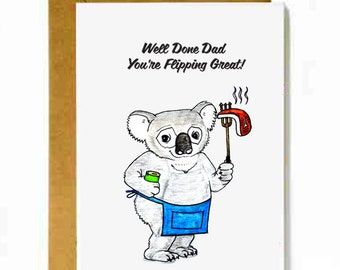 "Father's Day Card... ""Flipping Great Dad!"""
