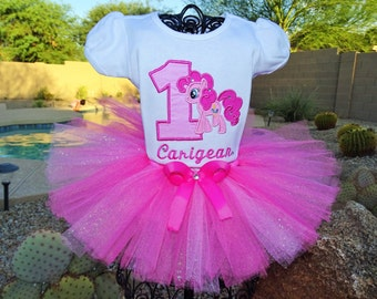 My Little Pony Pinkie Pie tutu outfit, Birthday tutu