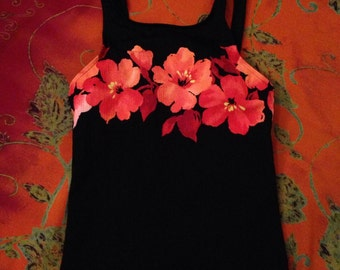 SALE** Floral Open Back Tank Top