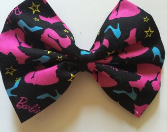 Barbie fabric hair bows