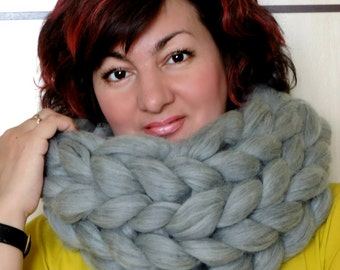 Infinity Scarf, Oversized Scarf, Knitted Scarf, Chunky Scarf, Infinity Scarfs, Infinity Knitted Scarf, Wool Scarf, Super Chunky Scarf
