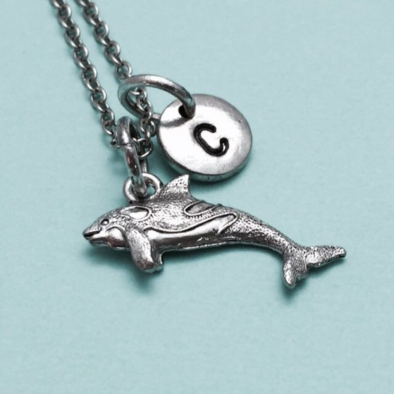killer whale necklace whale charm orca whale necklace