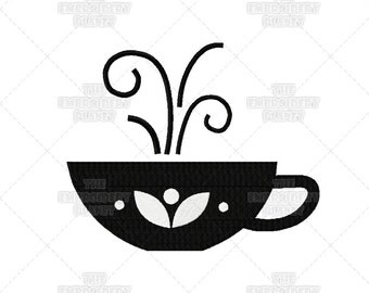 Nice Hot Cup of Tea Machine Embroidery Pattern