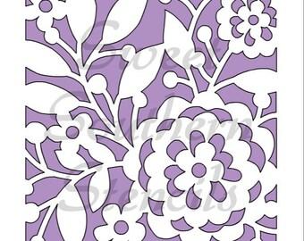 Floral Design Cookie Stencil