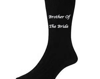 Personalised wedding SOCKS Brother of the Bride