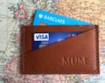 Leather Credit Card Holder By Vida Vida