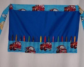 Little Boys Crayon Apron tool belt style Disney Cars Mickey Mouse