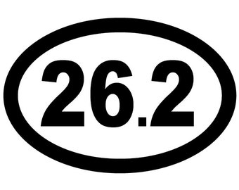 26.2 Oval Decal Vinyl or Magnet Bumper Sticker