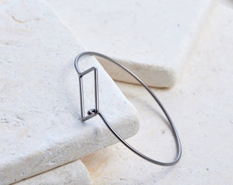 Rectangle Cuff Bracelet Modern trendy charm style