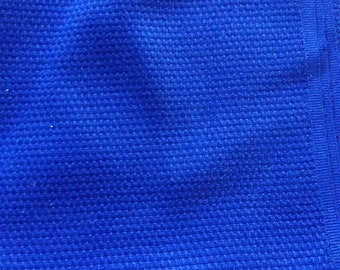 Navy Blue Woven Fabric - Vintage
