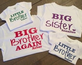 Set of 4 Sibling Shirts - pick any sibling combination