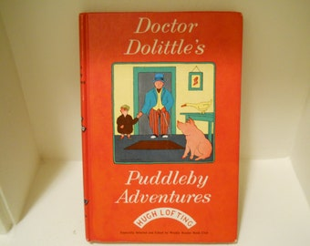 REDUCED!  Doctor Dolittle's Puddleby Adventures / Weekly Reader Edition 1952 / Hugh Lofting