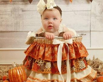 Ruffle Bucket Baby Photography Prop Autumn