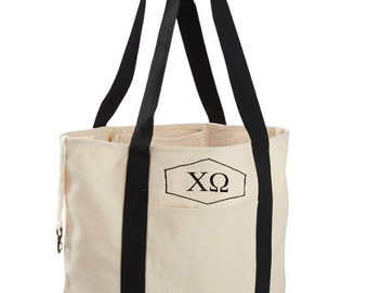 Chi Omega Canvas Tote Bag