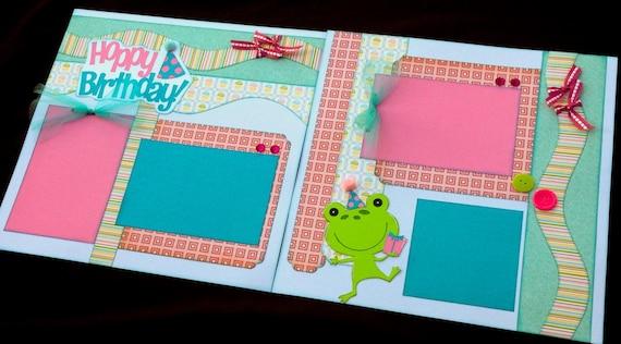 12x12 Birthday Scrapbook Page Kit 12x12 Premade Birthday