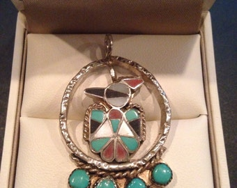 Sterling Silver Navajo Thunderbird Pendant