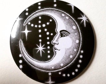 Man in the Moon Large Illustrated Pocket Mirror