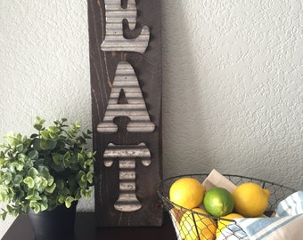 EAT Galvanized Sign