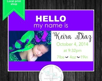 HELLO my name is....name tag Birth Announcement **DIGITAL FILE**