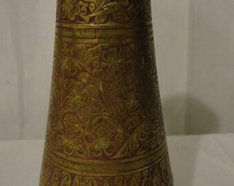 Brass vase Etsy