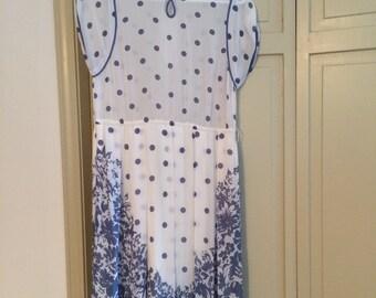 Vintage Polka Dot & Floral Dress