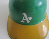 70's Oakland A's Hand-Painted Baseball Helmet / Oakland Athletics Vintage 70s Hat Vintage Helmet Baseball Vintage Jose Canseco
