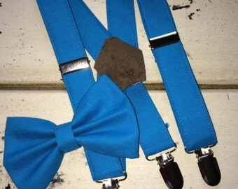 Boy's suspenders and matching bow tie