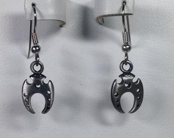 Pewter Sickle Charm Earrings -PE007