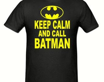 Keep calm & Call Batman t shirt, boys t shirt sizes 5-15 years,children's Batman t shirt