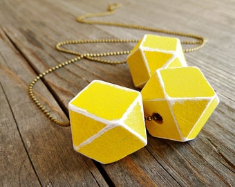 Geometric Necklace Wood