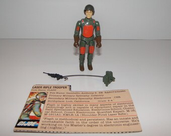 Vintage 1983 Hasbro G.I. Joe FLASH (v1.5) Laser Rifle Trooper Action Figure