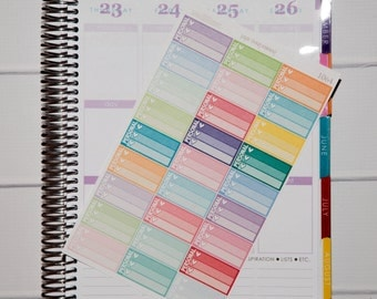 27 Personal Half Boxes | Planner Stickers designed for use with the Erin Condren Life Planner | 1064