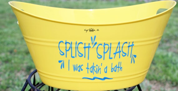 splish splash i was taking a bath tub personalized tub. Black Bedroom Furniture Sets. Home Design Ideas