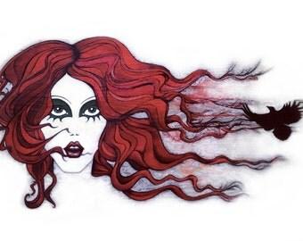 The Siren - Illustration Prints