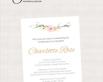 Sweet Blooms Collection Printable Invitation