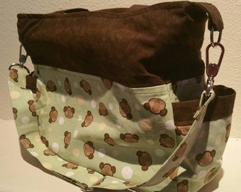 SALE: Bag full of Monkeys Handmade Diaper/Tote