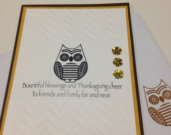 Set of 8 Thanksgiving Cards/ Holidays/ Gift