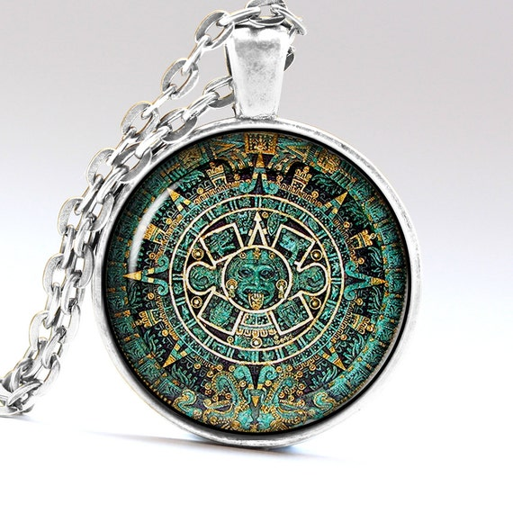 aztec jewelry ancient necklace pendant by aimpendants