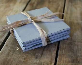 Antiqued Coaster Set of 4