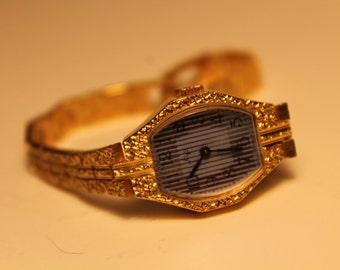 Gold piatinum Luch./Mech1801/.16 Jewels vintage watch. Women's soviet watch 1980s. Vintage Russian watch, Luch Excellent Working Condition !